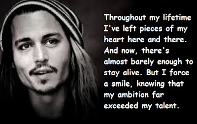 """Johnny Depp Quotes About Talent"""