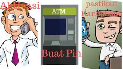 gambar ilustrasi pria menelepon call center untuk aktivasi kartu kredit sebelum transaksi
