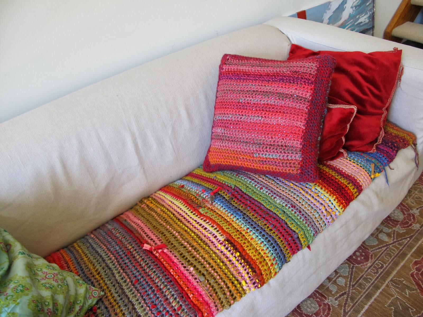sofa cover blankets signature design by ashley sagen teal queen sleeper moss crochet more t shirt yarn pics