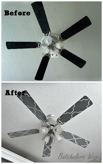 Batchelors Way Office Redo Custom Ceiling Fan Blades