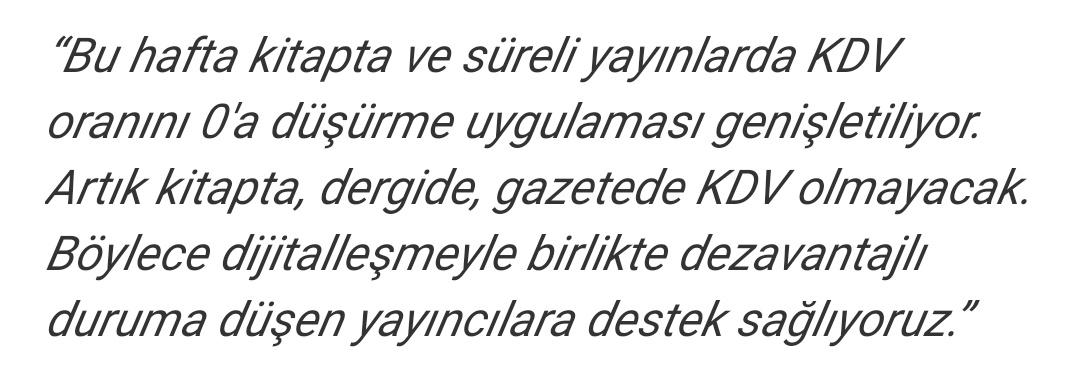 Kdv indirimi 2019 Tayyip Erdoğan
