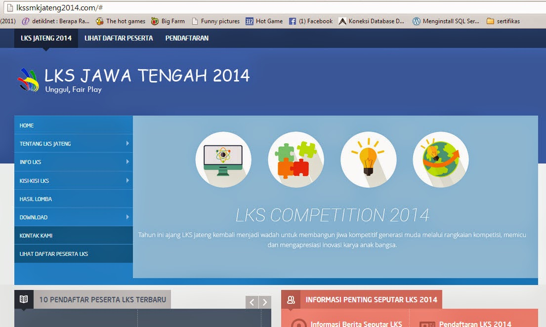 Pelaksanaan LKS SMK XXIII Tingkat Provinsi Jawa Tengah Tahun  Informasi LKS SMK Jawa Tengah 2014