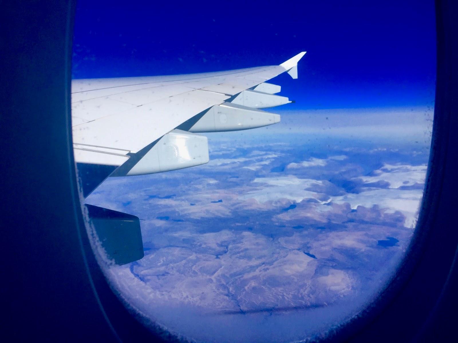 On Lufthansa flight to San Francisco