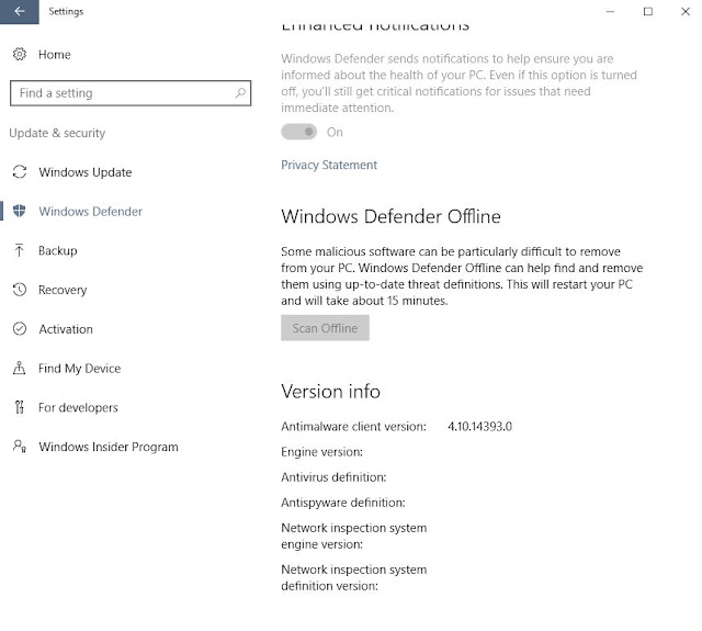 Microsoft Windows Defender Offline Malware Scanner Tool | Supratim Sanyal's Blog