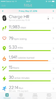 favorite fitness apps: fitbit charger hr