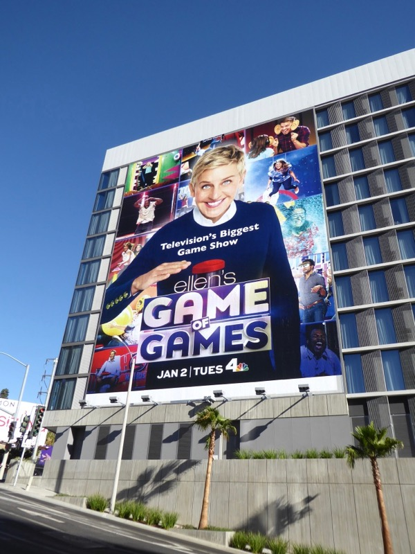 Ellens Game of Games series billboard