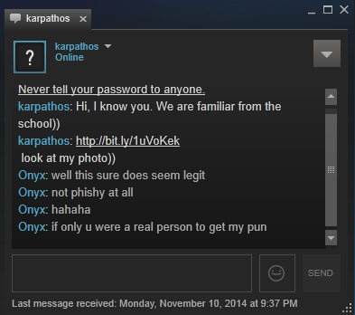 how to send messages to non friends on steam