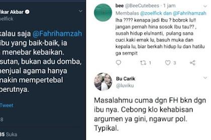 Tak Beradab.. GAK KAPOK! Dulu Menghina UAS Sampai Dipecat, Sekarang Pendukung Jokowi @zoelfick 'Menyeret-nyeret' Ibunda Fahri Hamzah
