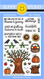 Sunny Studio Stamps: Happy Harvest Fall 4x6 Clear Photopolymer Stamps