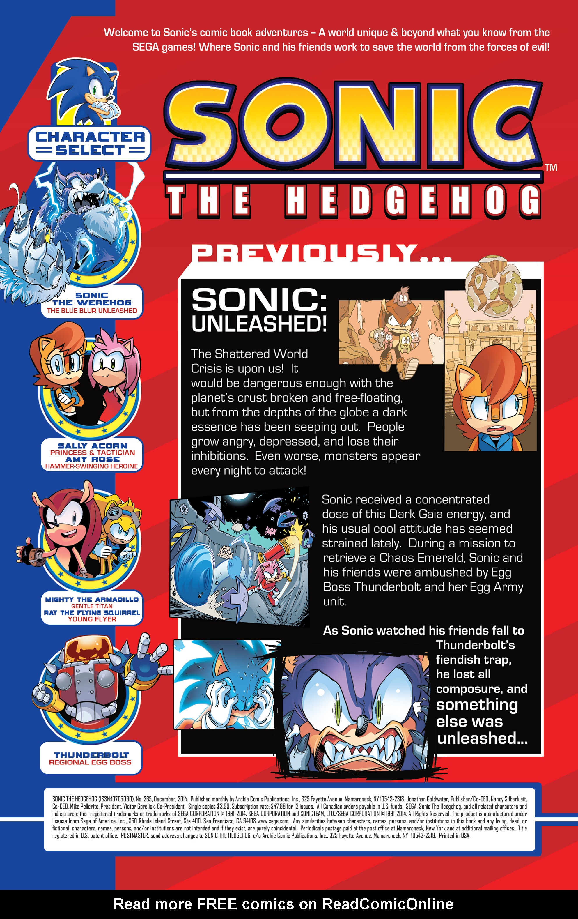 Read online Sonic The Hedgehog comic -  Issue #265 - 2