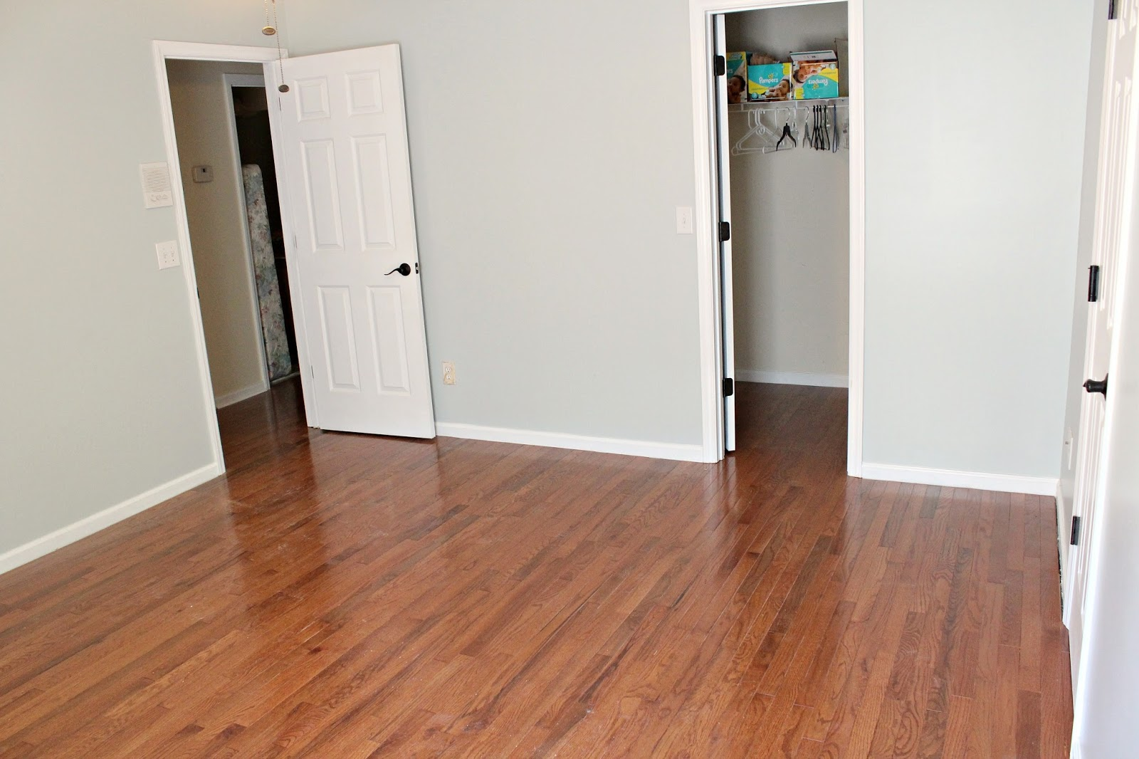 Hardwood Floors Upstairs: Part 5 (Guest Room Reveal)