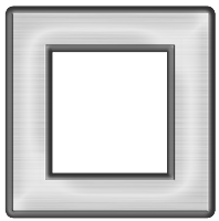 Moldura quadrada cinza médio  - criação Blog PNG-Free
