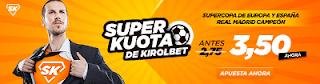 Superkuotas en Kirolbet Real Madrid campeón Super Copa Europa España 2017