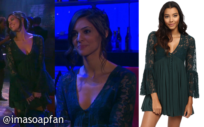 161e19d42d1 ... v-neckline and sheer flared bell sleeves by Free People. Along with dark  emerald green