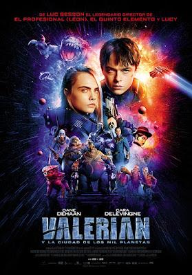 Póster de Valerian y la Ciudad de los Mil Planetas