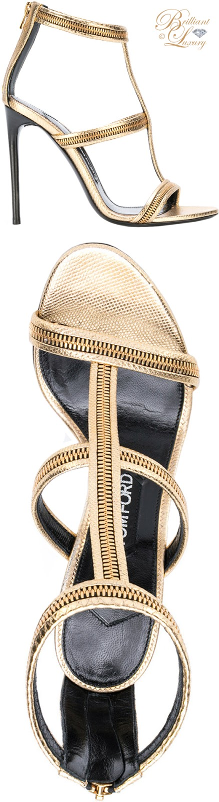 Brilliant Luxury ♦ Tom Ford zip sandals