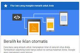 Cara Memasang Auto Ads, Format Iklan Terbaru Google Adsense