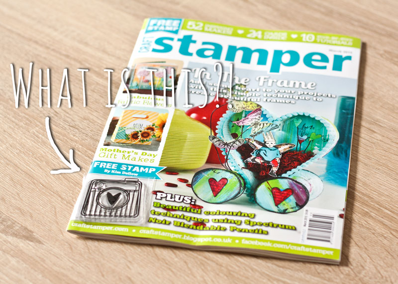 Craft Stamper Magazine March Issue Free Stamp Designed by Kim Dellow
