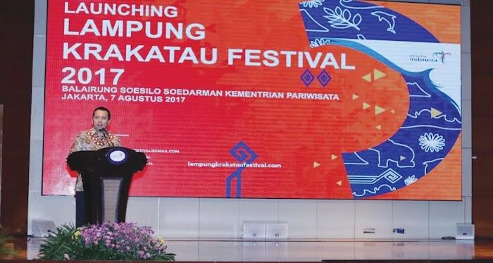 Gubernur Lampung Bersama Menpar Arief Yahya Launching Lampung Krakatau Festival 2017