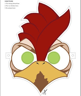 Image: Printable Chicken Mask