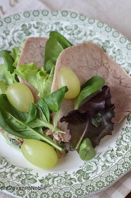 Girello di bovino Lenti con insalata misticanza