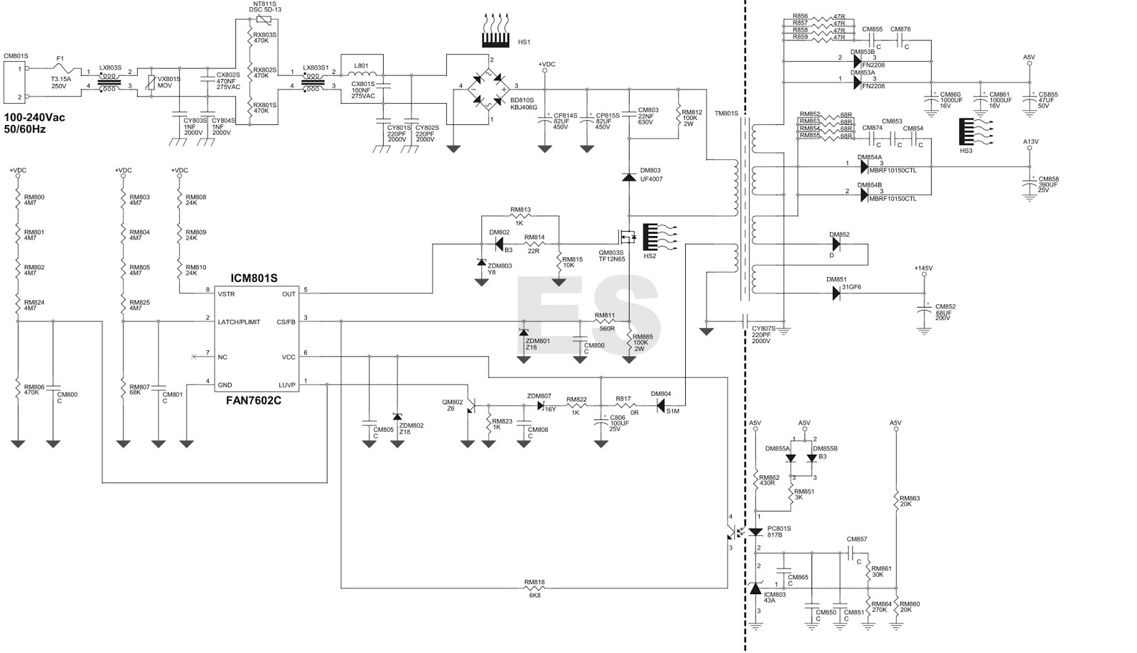 Schematic Of Led Driver Circuit Power Supply Wiring Library