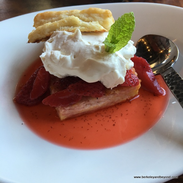 strawberry shortcake at Cafe Eugene in Albany, California