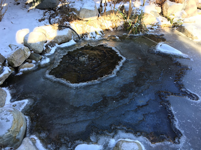 pond aerator in winter