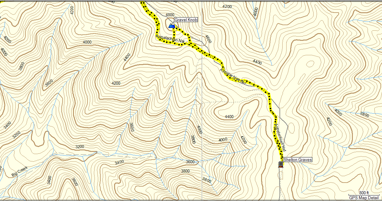 ben and i got to talking and we passed below the top of the knob so i decided to hit it on the way back we saw some interesting tracks in the