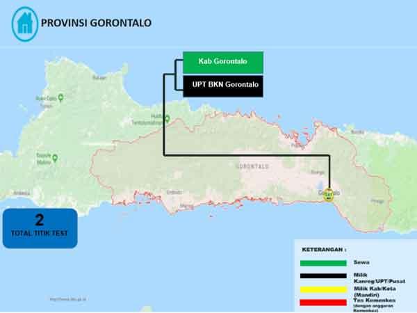 Lokasi Tes Cat BKN Propinsi Gorontalo