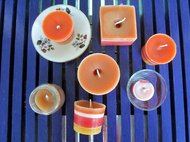 recycled candles kynttilöiden valaminen
