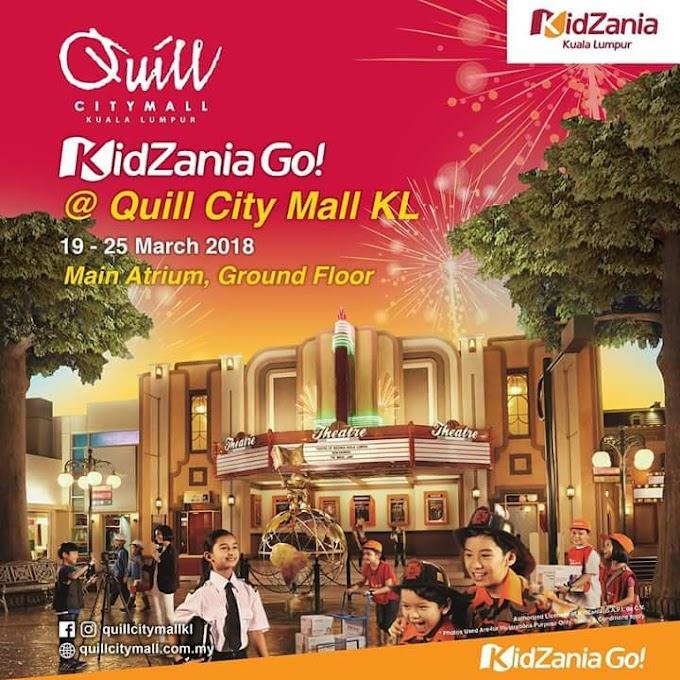 Tiket Percuma ke Kidzania Go di Quill City Mall Kuala Lumpur