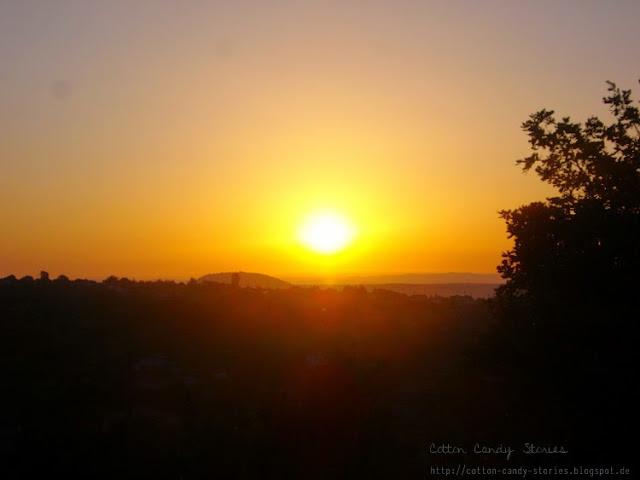 Sonnenuntergang in der Ardèche