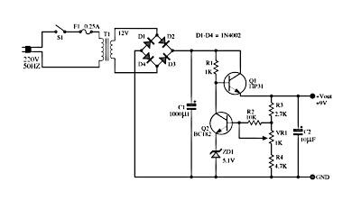6 12 volt adjustable power supply circuit wiring diagram remote rh rcwirring blogspot com