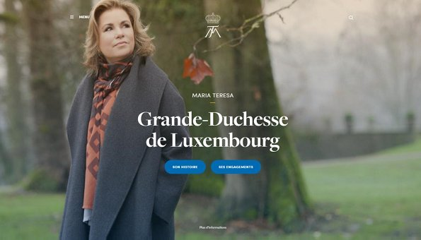www.grande-duchesse.lu/ official web page which is dedicated to the duties and activities of Grand Duchess Maria Teresa
