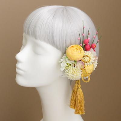 ウェディングブーケと花髪飾りairaka_アレンジパーツ
