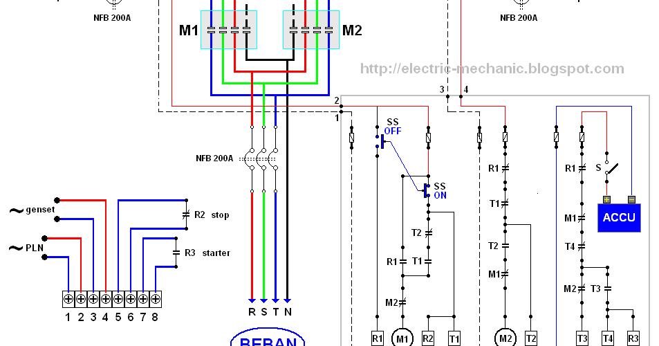 Wiring Diagram Sinkron Genset : Cara membuat rangkaian panel ats amf dari berbagai ahli