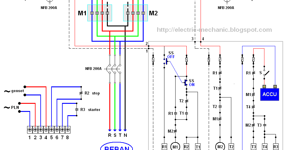 cara membuat rangkaian panel ats amf dari berbagai ahli reliance manual transfer switch wiring diagram