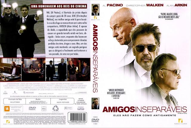 Capa DVD Amigos Inseparáveis