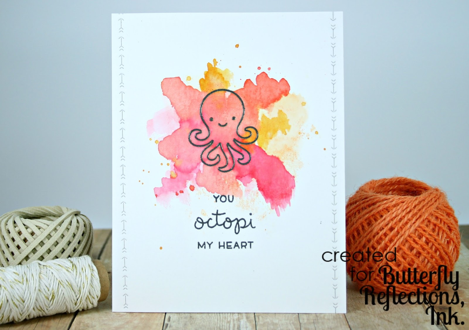 octopi my heart Octopus card Lawn Fawn Stamp and die sets
