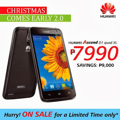 Huawei Ascend D1 Quad XL Early Christmas Sale