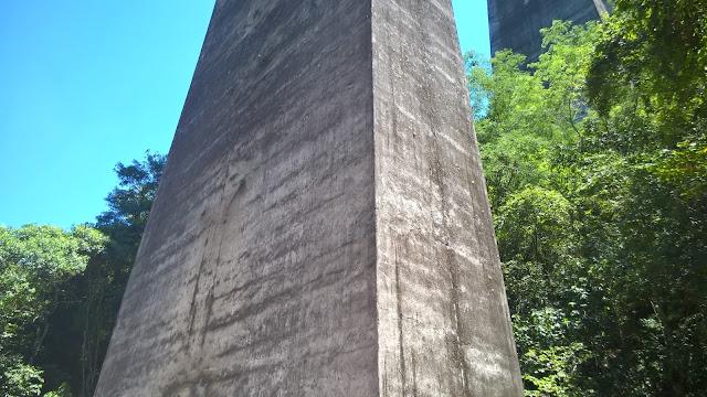 Base do pilar do Viaduto 13