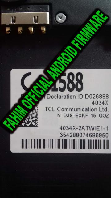 Efty Telecom: ALCATEL PIXI4 4034X FLASH FILE MT6580 6 0