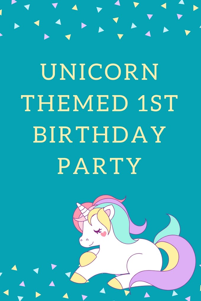 Unicorn Themed 1st Birthday