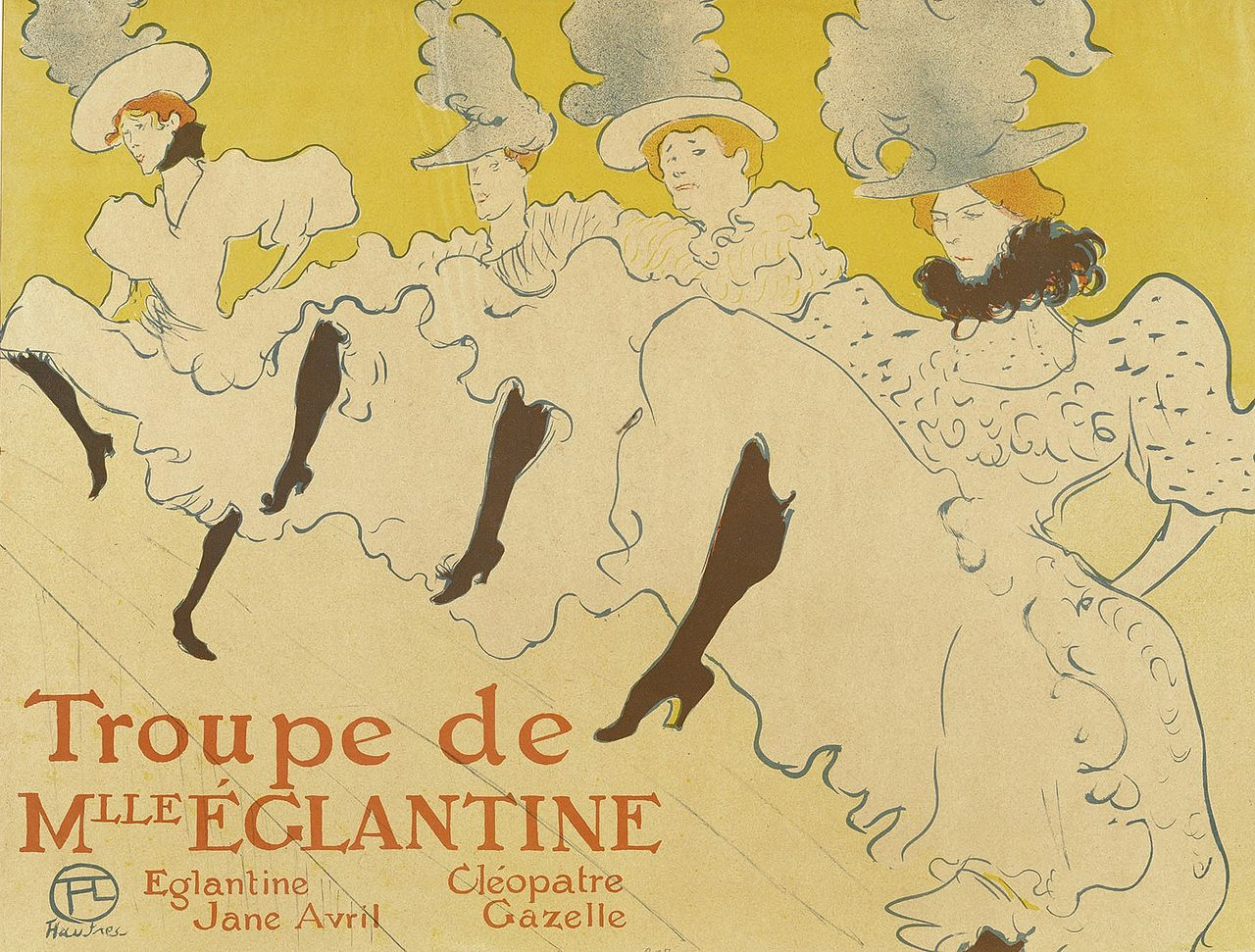 poster for the can can by toulouse lautrec from 1895