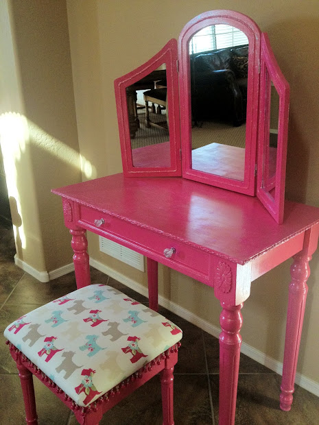 Susan Crabtree Pink Glitter Vanity