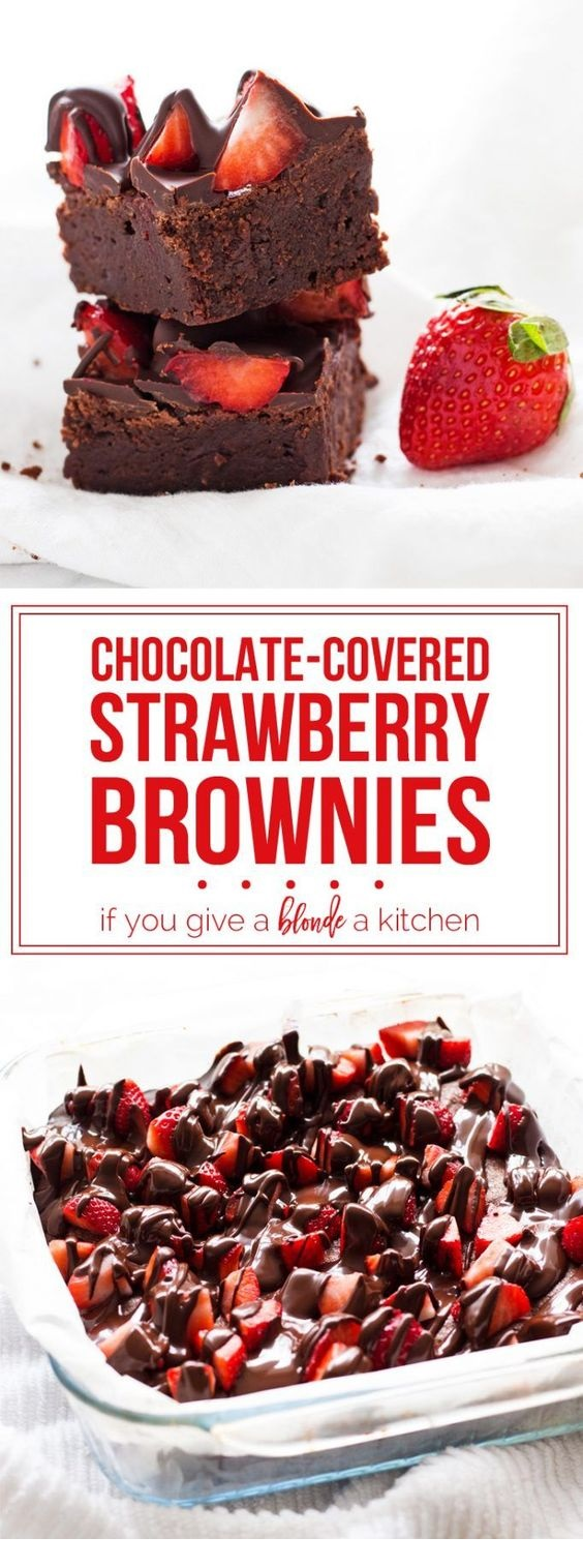 Chocolate-Covered Strawberry Brownies