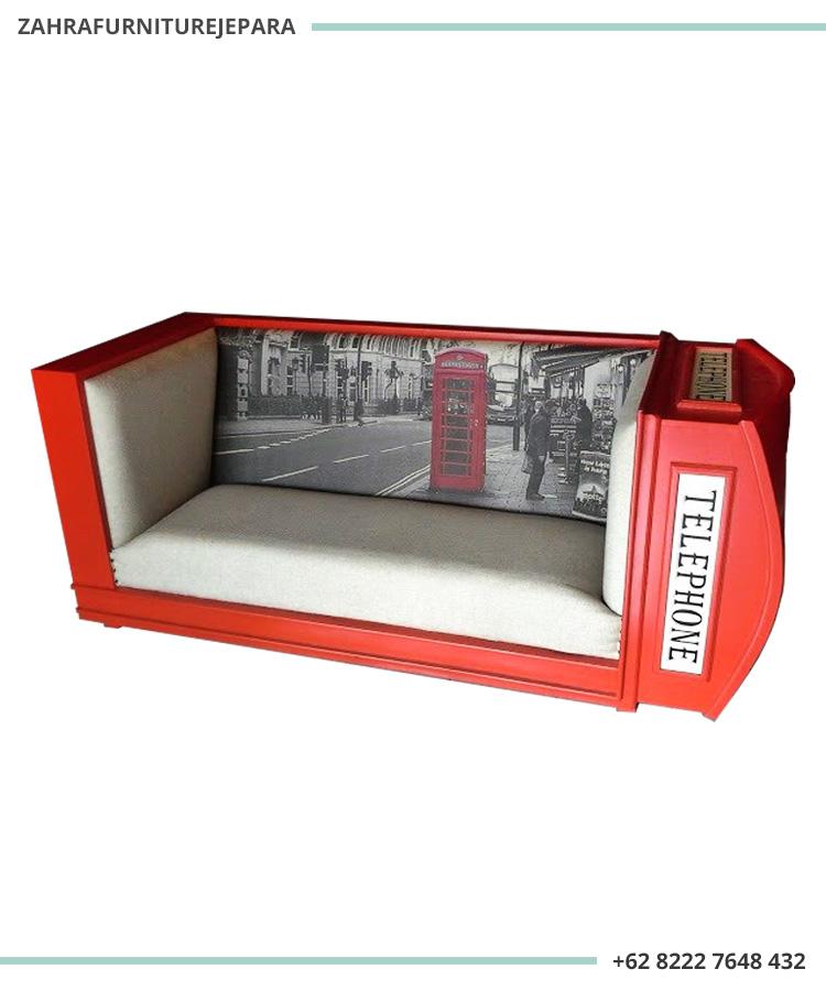 SOFA BOX TELEPON LONDON WARNA MERAH - SOFA TELEPON