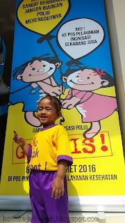 Serunya PIN Polio bersama KB Warna Pelangi