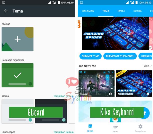 cara mengatur tema keyboard android